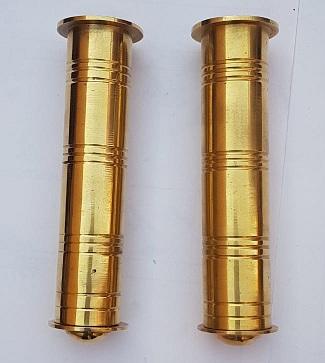 Brass handle grip set